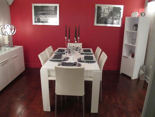 Salle à manger laqué blanc D&CO | sophie levitte