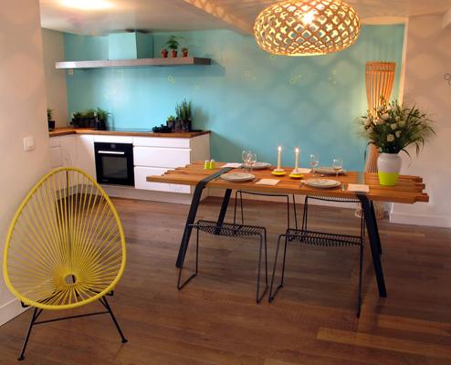 Amazing cuisine fluo bois naturel intrieurs with cuisine en bois naturel - Cuisine bois naturel ...