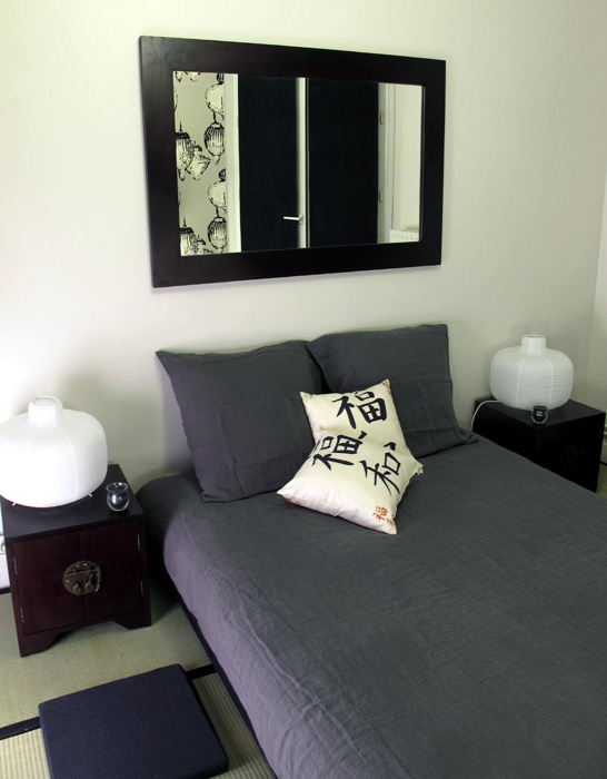 chambre japonaise d co sophie levitte. Black Bedroom Furniture Sets. Home Design Ideas