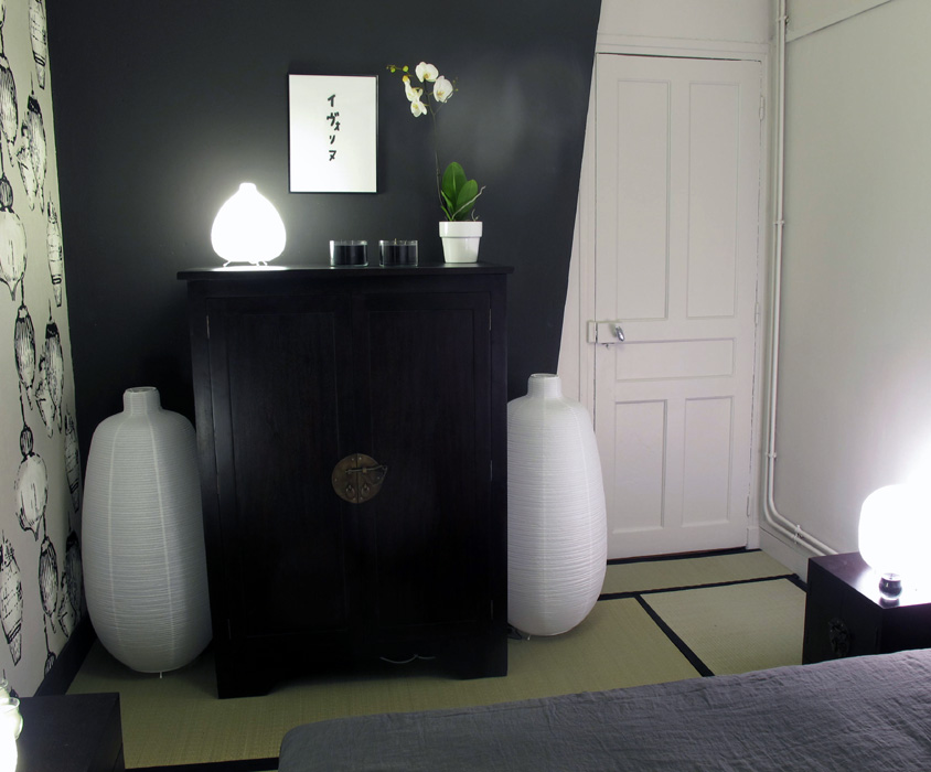 Chambre traditionnelle japonaise for Salle de bain japonaise traditionnelle