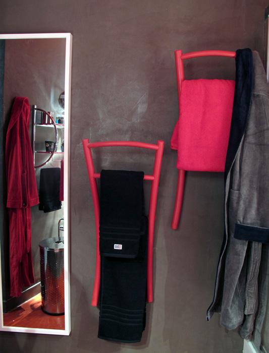 Salle de bain rouge et noir d co sophie levitte for Salle de bain noir et rouge
