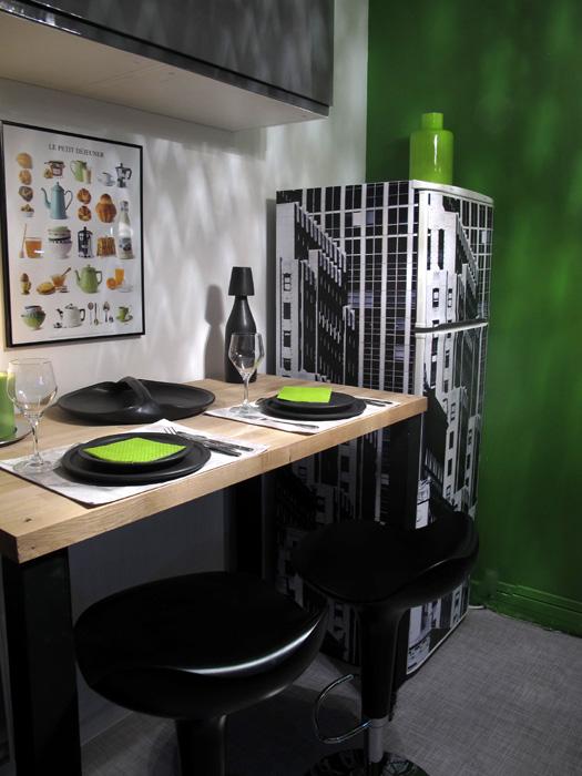 Connu Cuisine noire et verte D&CO | sophie levitte ZR68