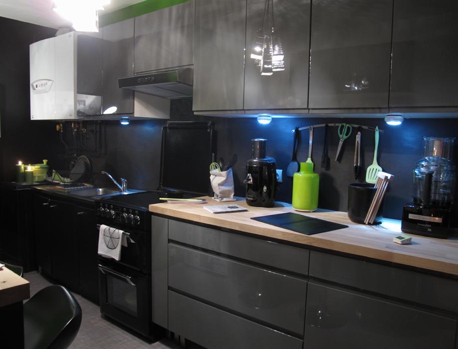 Préférence Cuisine noire et verte D&CO | sophie levitte WA98