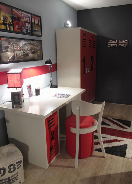 Chambre london d co sophie levitte for Decoration angleterre pour chambre