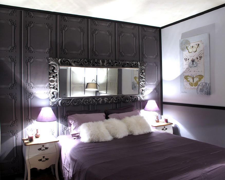 chambre f minine d co sophie levitte. Black Bedroom Furniture Sets. Home Design Ideas